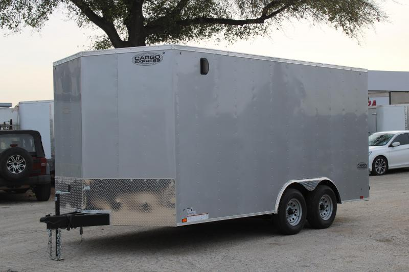 2020 Cargo Express 8.5X16 Enclosed Cargo Trailer W/Rear Ramp
