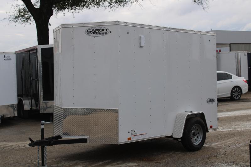 2021 Cargo Express 6X10 Enclosed Cargo Trailer W/Rear Ramp