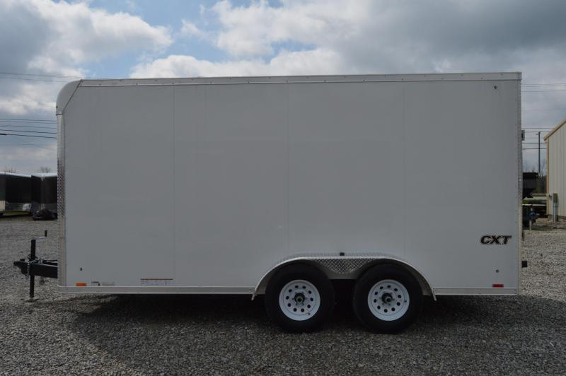 2021 Cargo Express 7X16 CXT EXTREME FLAT TOP-WH Enclosed Cargo Trailer