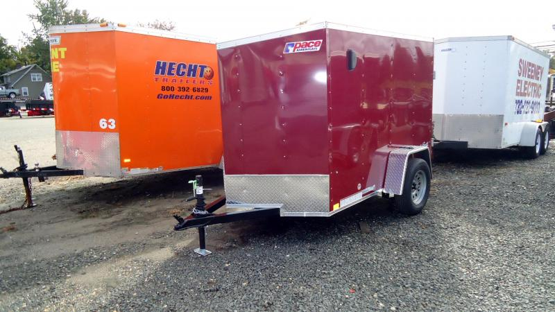 2022 Pace American 5X8 OBDLX SI2 V DBLD BRANDYWINE Enclosed Cargo Trailer
