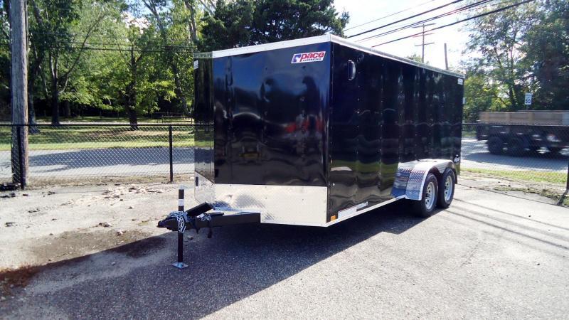 2022 Pace American 7X16 OBDLX TE2 V SVNT BLACK Enclosed Cargo Trailer