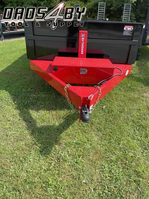 DLP12-10 BWISE 6'X12' 10K Red/Black Dump W/Combo Gate, Ramps & Hydraulic Jack