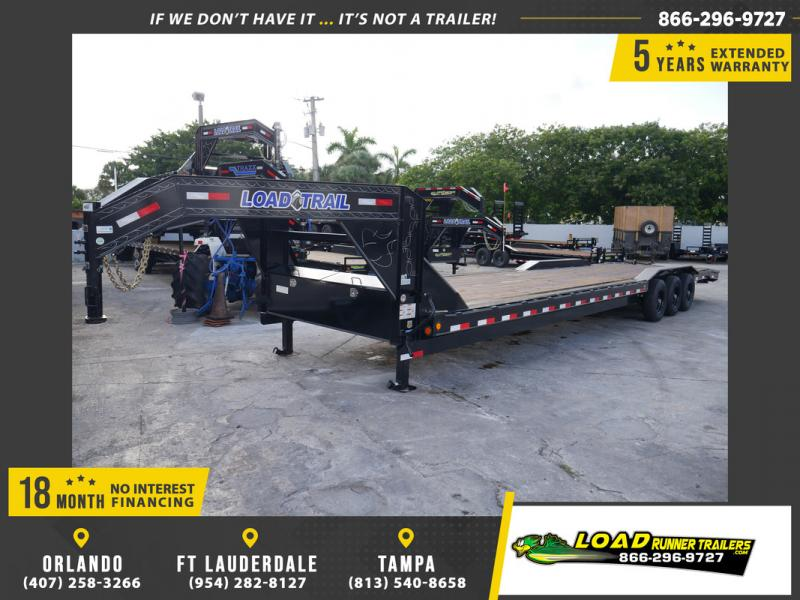 *107785* 8.5x36 Load Trail Gooseneck Car Hauler Trailer | Tandem Axle Trailers 8.5 x 36