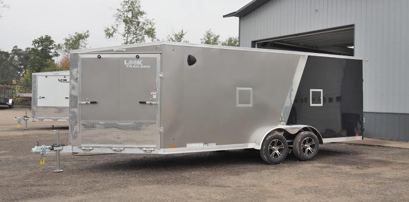 2022 Look Trailers AVALANCHE 7X18+5' V DRIVE IN/OUT Snowmobile Trailer