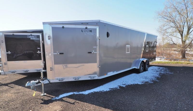 2021 Look Trailers AVALANCHE 7X24+5' V DRIVE IN/OUT Snowmobile Trailer