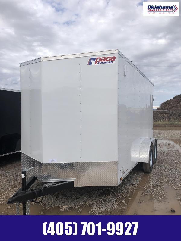 2022 Pace American 7' x 14' Tandem Axle Cargo Enclosed Trailer w/ 7' Interior