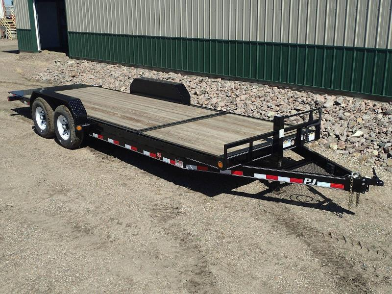 "2020 PJ 22'x6"" Channel Equipment Tilt Trailer"