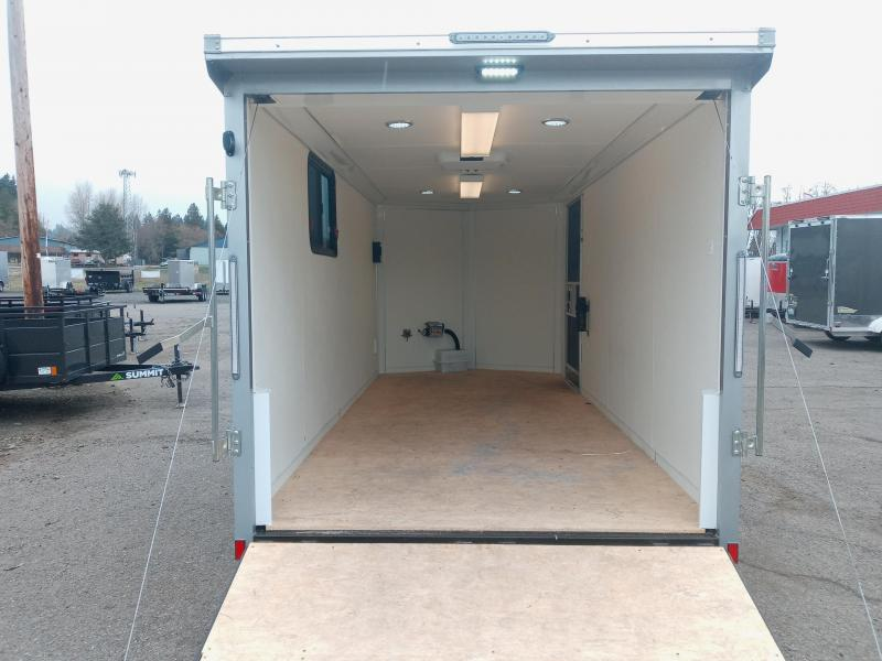 7x16 Enclosed Cargo Trailer **Dry Camper 110 Volt**