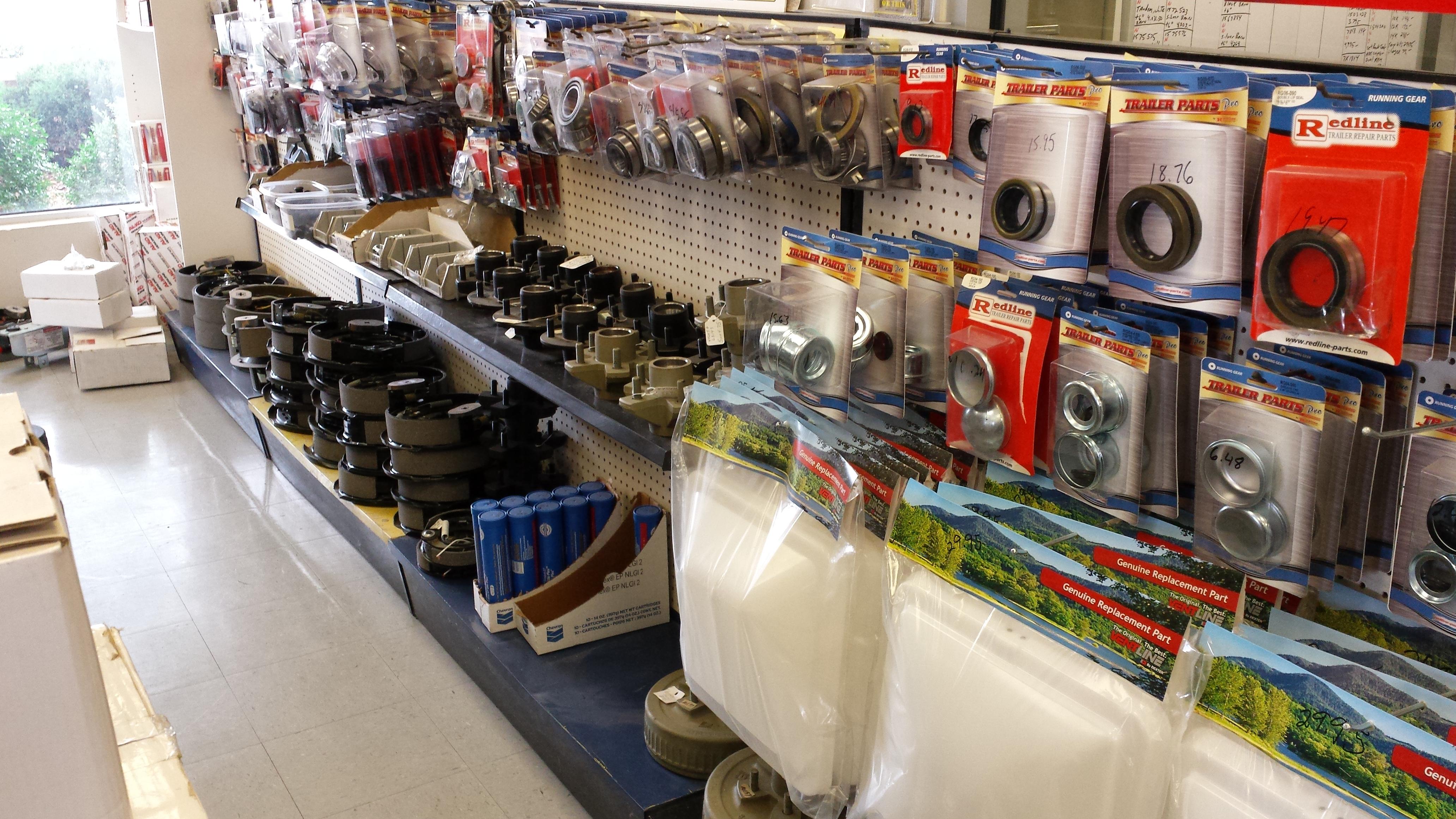 trailer parts, brakes, bearings and seals