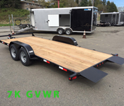 Tiltbed Open Car and Equipment Trailers