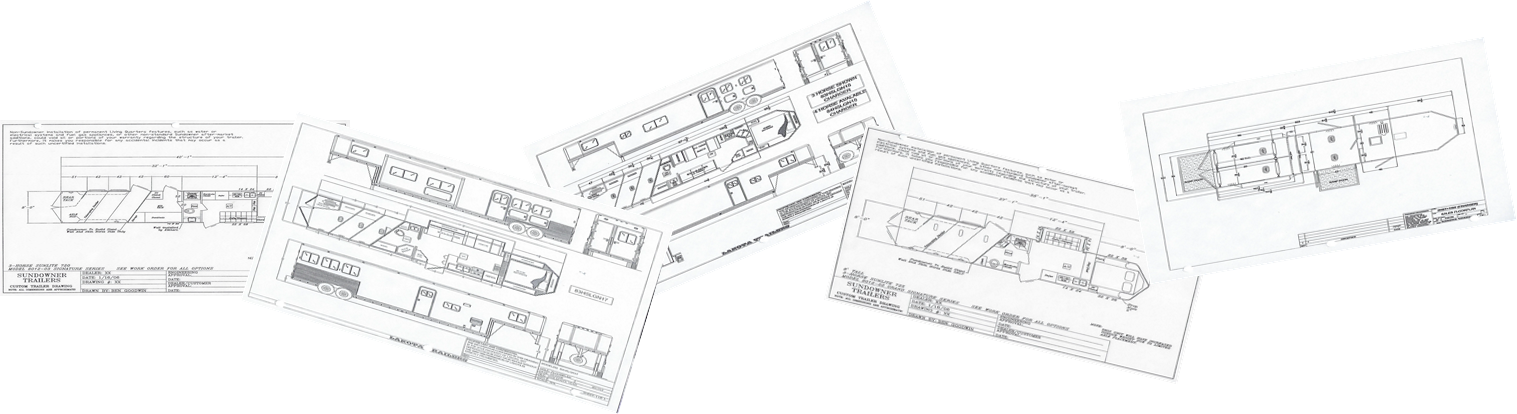 Kerlin Trailers trailer floorplans