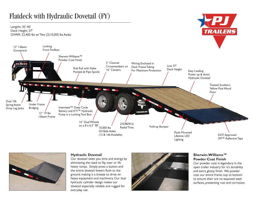 flatdeck with hydraulic dove  fy