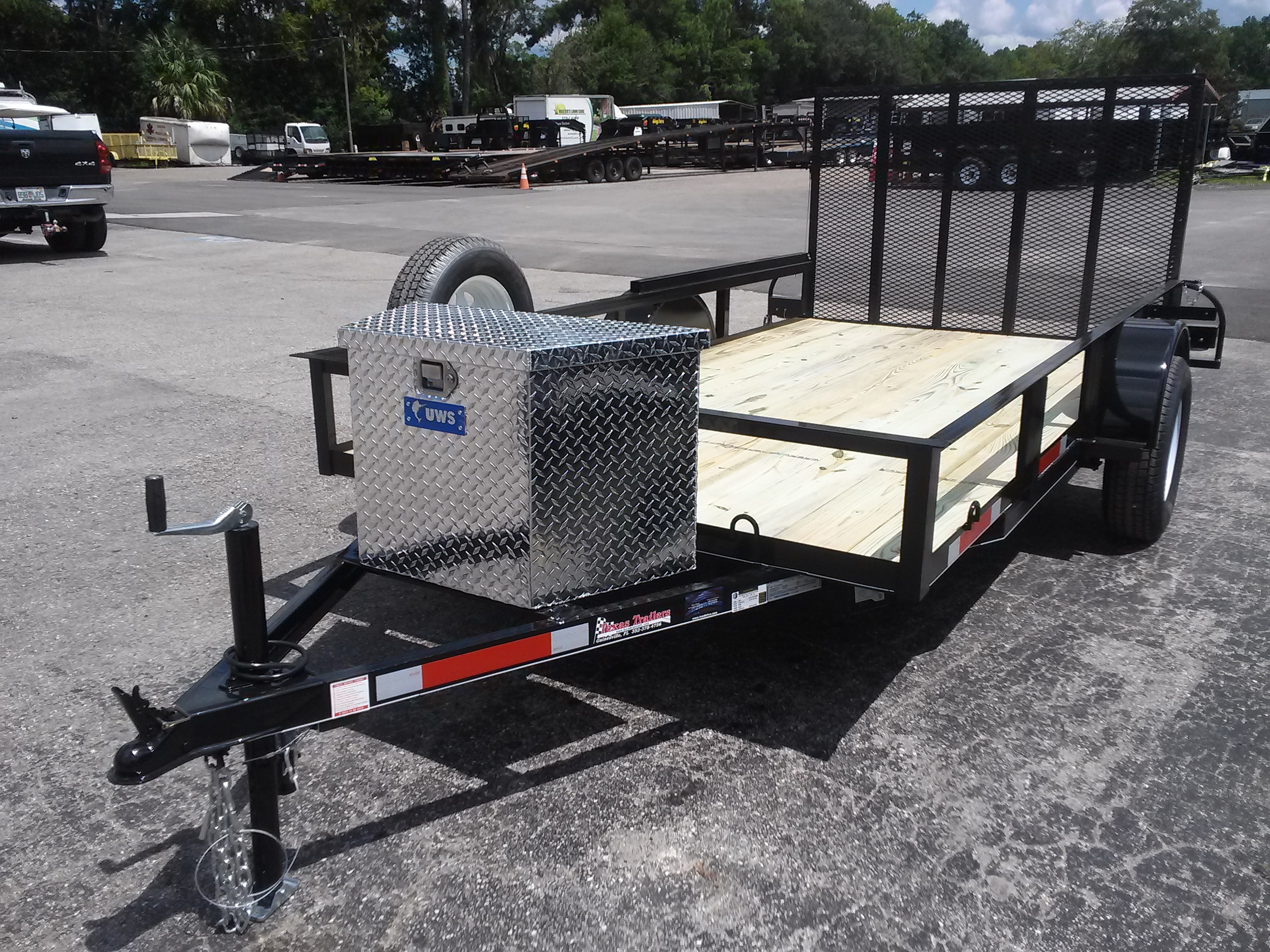 Trailer tongue box diamond plate aluminum tool box for 6x12 wood floor trailer