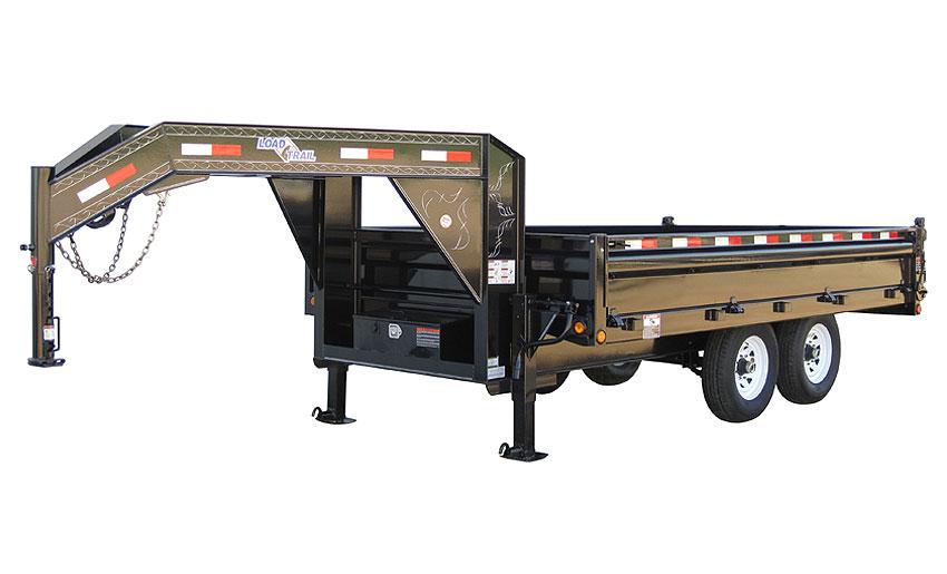 "2014 Load Trail 96"" X 14' Tandem Axle Gooseneck Deck Over Dump Trailer (with scissor lift)"
