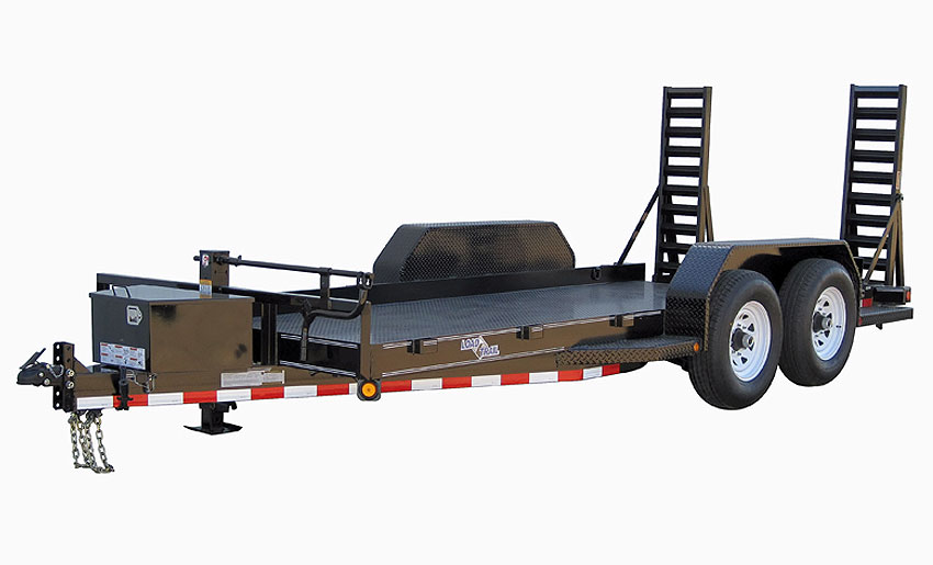 """2017 Load Trail 80"""" X 14' Tandem Axle Bobcat DPF DP Runing Boards Front Tool Box Fold Up Ramps"""