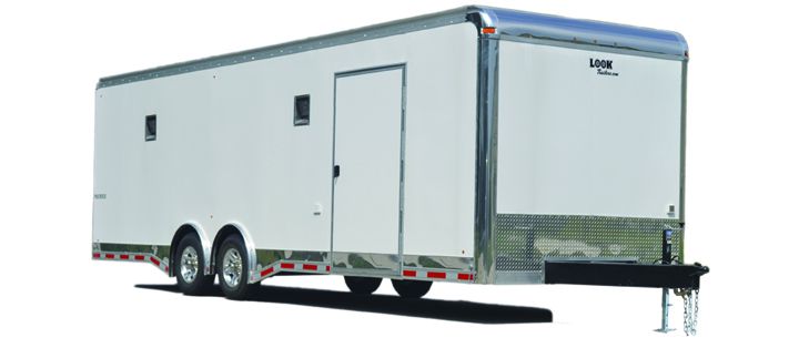 2016 Look Trailers Premier Race 8.5 Wide / Flat Top Cargo / Enclosed Trailer