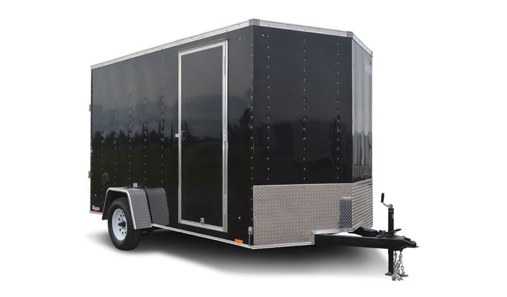 2018 Cargo Express Xlw 7' Wide Cargo Flat Top Cargo / Enclosed Trailer