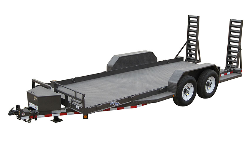 "2015 Load Trail 80"" X 20' Tandem Axle Bobcat DPF DP Runing Boards Front Tool Box Fold Up Ramps"