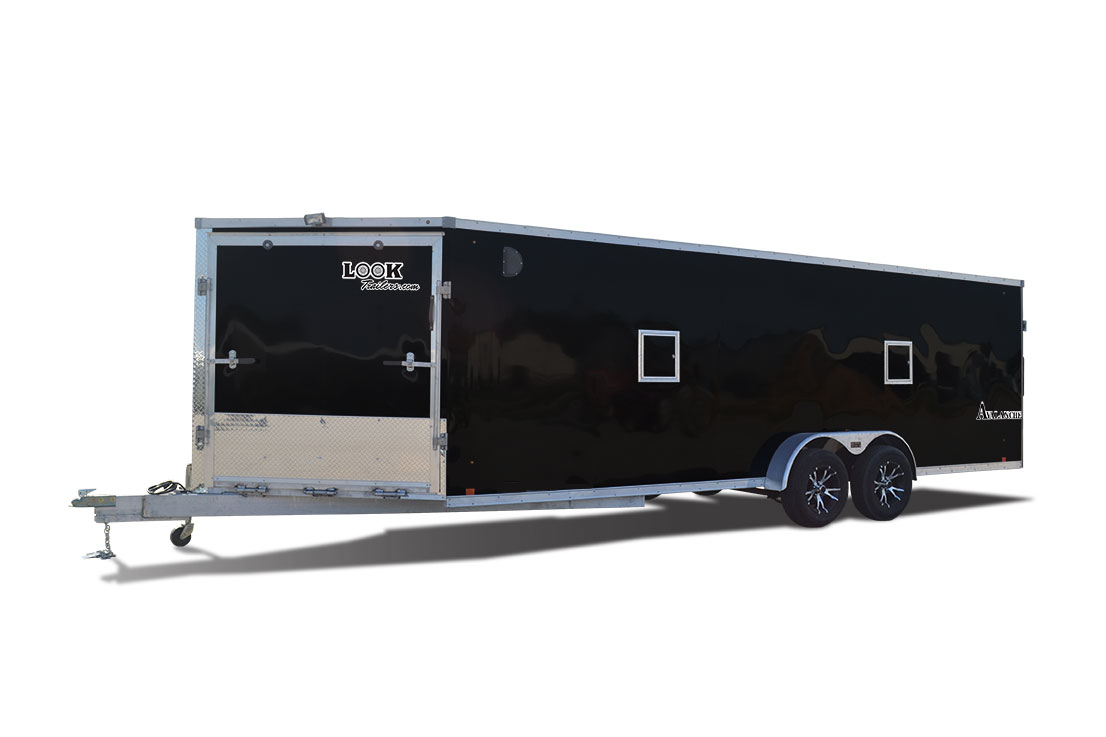 2017 Look Trailers Avalanche Bullnose Flat Top Snowmobile Trailer