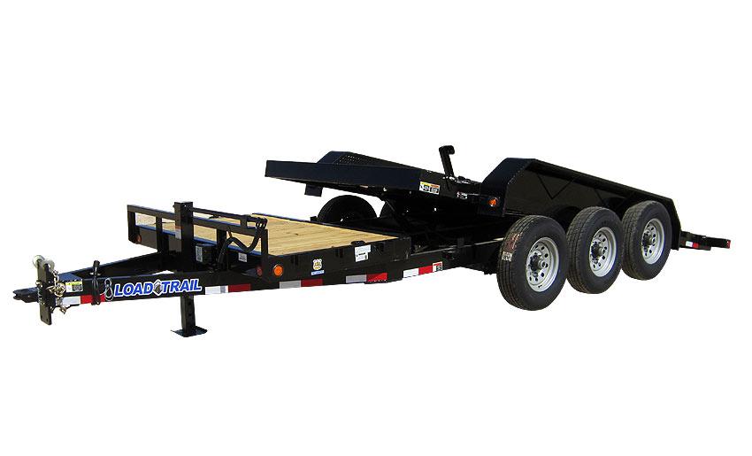 "2019 Load Trail 83"" X 24' Tilt-n-go Triple Axle Equipment Trailer"