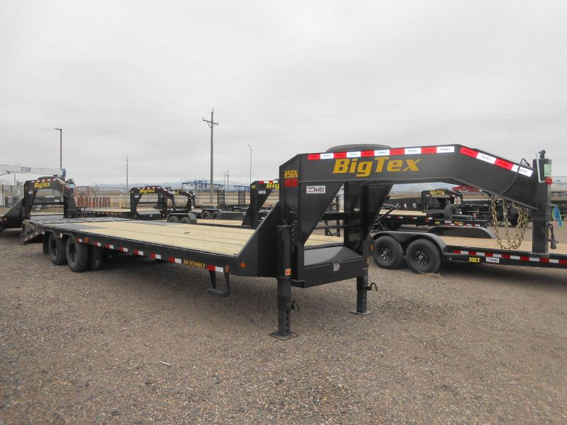 2021 Big Tex Trailers 25GN-25+5MR Gooseneck Flatbed Trailer w/ MEGA RAMPS