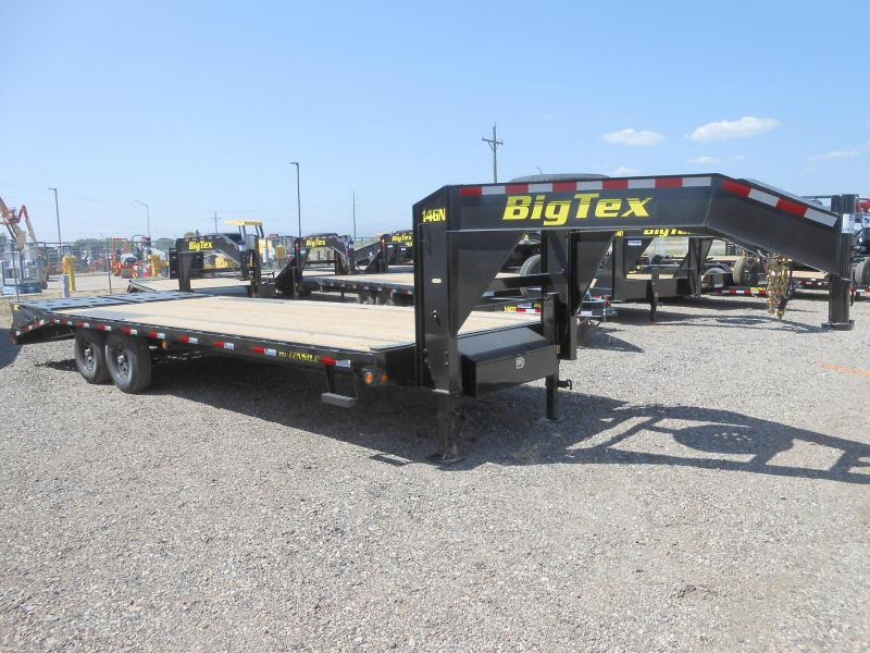2021 Big Tex 14GN-20+5MR Gooseneck Flatbed Trailer w/ MEGA RAMPS