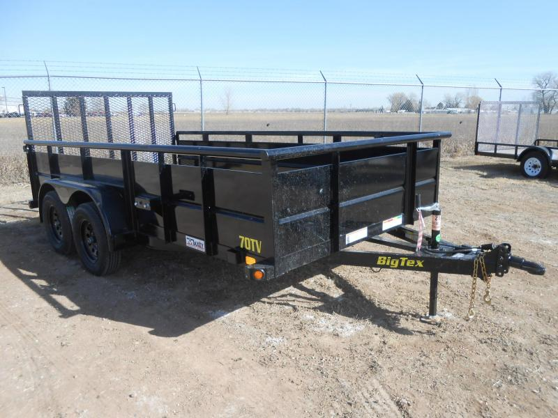2021 Big Tex 70TV-14 Landscape / Utility Trailer w/ Solid Sides