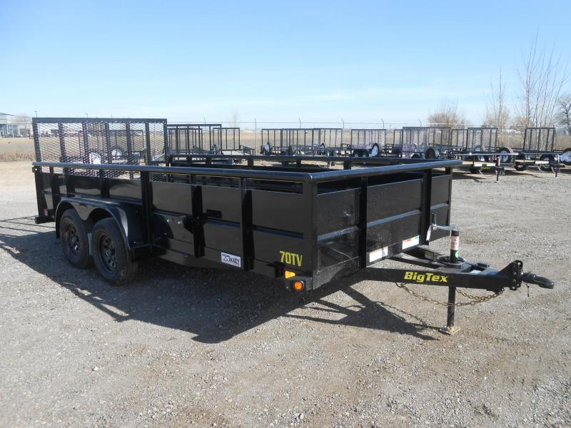 2020 Big Tex Trailers 70TV-16 Solid Side Utility Trailer
