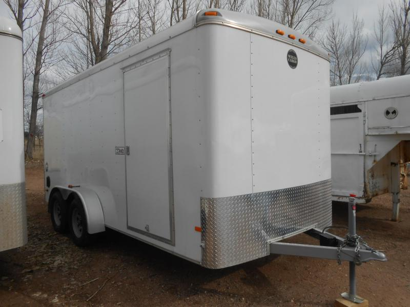2015 Wells Cargo Road Force 7'W X 16'L Enclosed Cargo Trailer