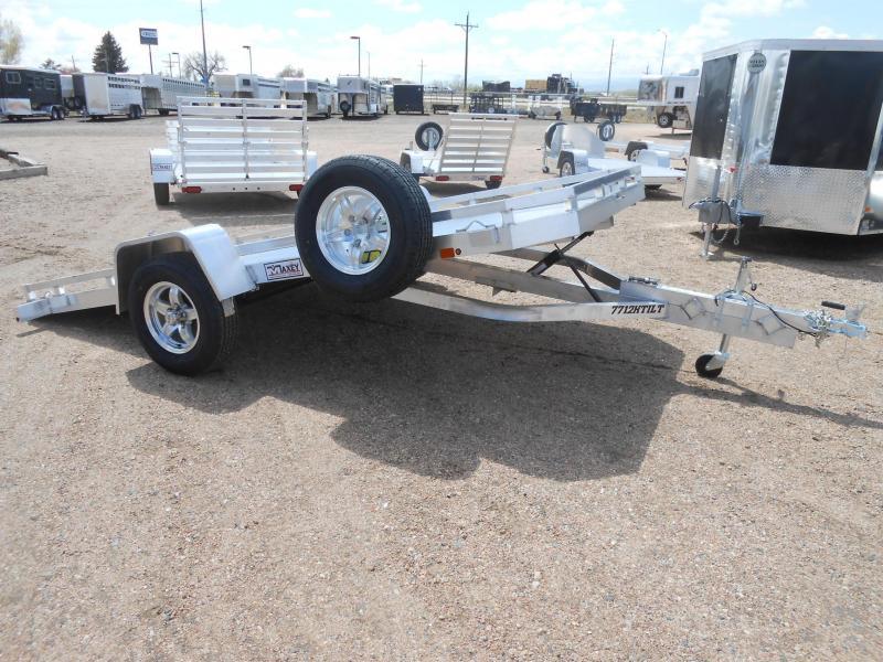 2021 Aluma 7712H-TILT All Aluminum Tilt Deck Utility Trailer