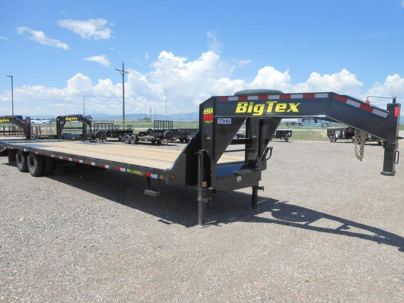 2021 Big Tex Trailers 22GN-30+5MR Gooseneck Flatbed Trailer w/ MEGA RAMPS