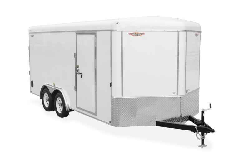 2021 H and H Trailer 8.5x16 Flat Top V Nose Enclosed Cargo Trailer