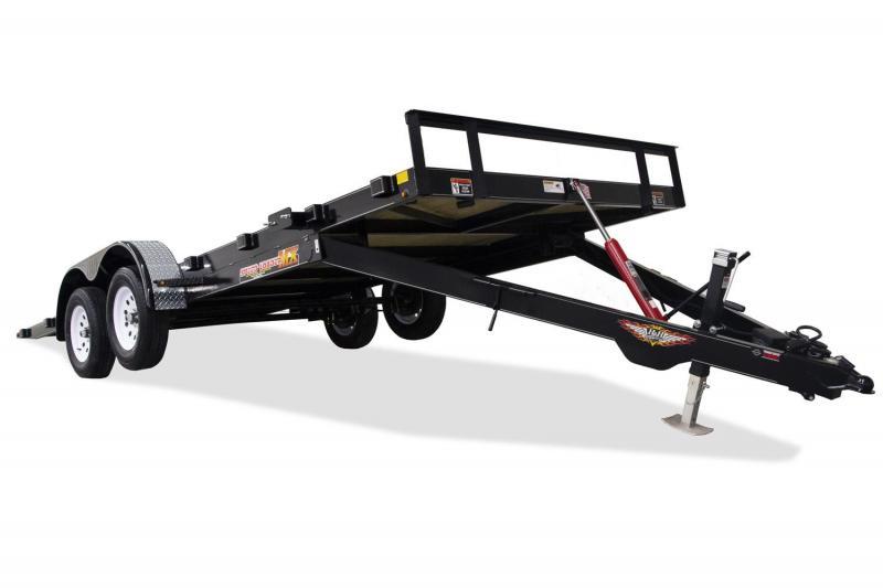 "H&H MX SPEEDLOADER TILT CAR HAULER  TANDEM AXLE 82""X20'"