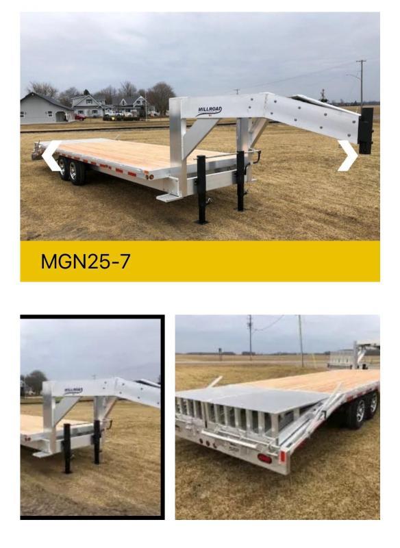 2022 Millroad Trailers MGN25-7 Gooseneck Bodies