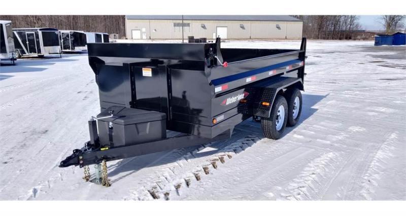 "2022 Weberlane Contractor Low Profile Dump Trailer DWL1272LP 78""x12' 10K"