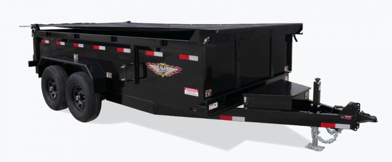 "H&H INDUSTRIAL DUMP TANDEM AXLE H8316DBW-B-160  83"" x 16' 14K"