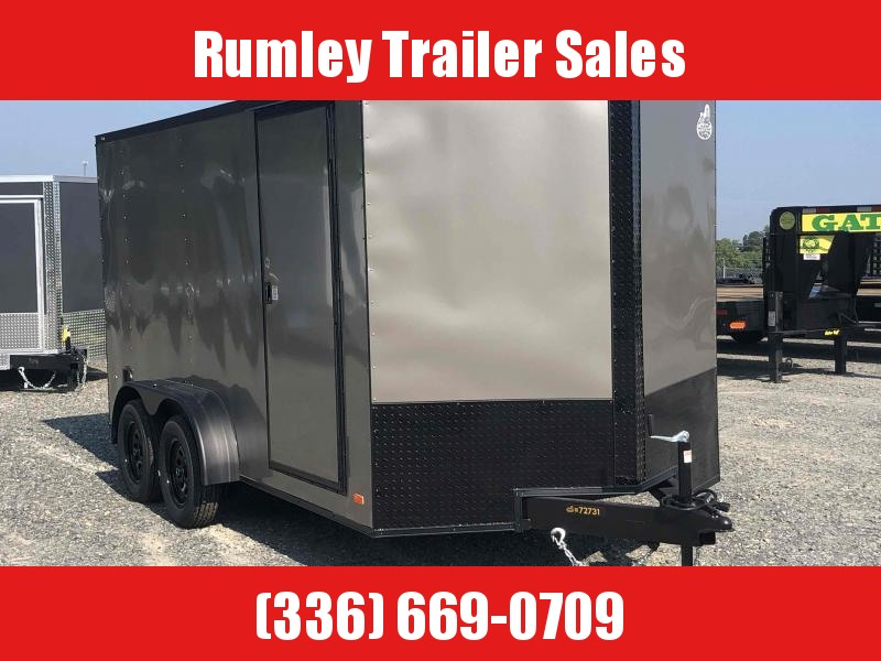 2021 Covered Wagon Gold series 7x16 v nose blackout