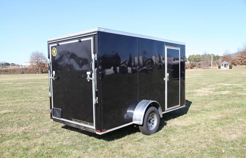 2021 Covered Wagon Enclosed Cargo Trailer 6x12 ft V-Nose 3k GVWR