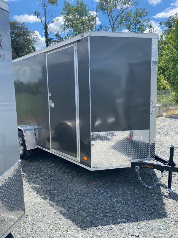 2022 Covered Wagon Enclosed Cargo Trailer 6x12 ft V-Nose 3k GVWR