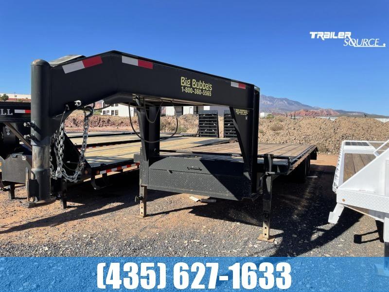 2002 Big Bubba 8x25TA5 Gooseneck Dovetail Equipment Trailer