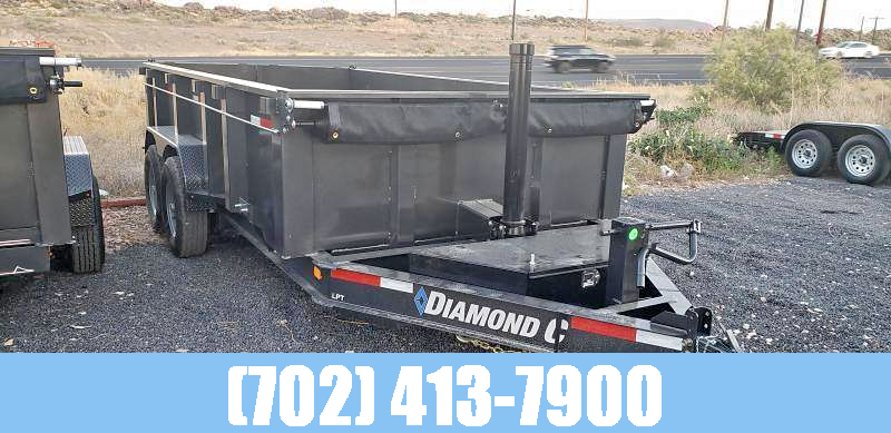 "2021 Diamond C 7x14 LPT Telescoping Hoist Dump Trailer 32"" Sides"