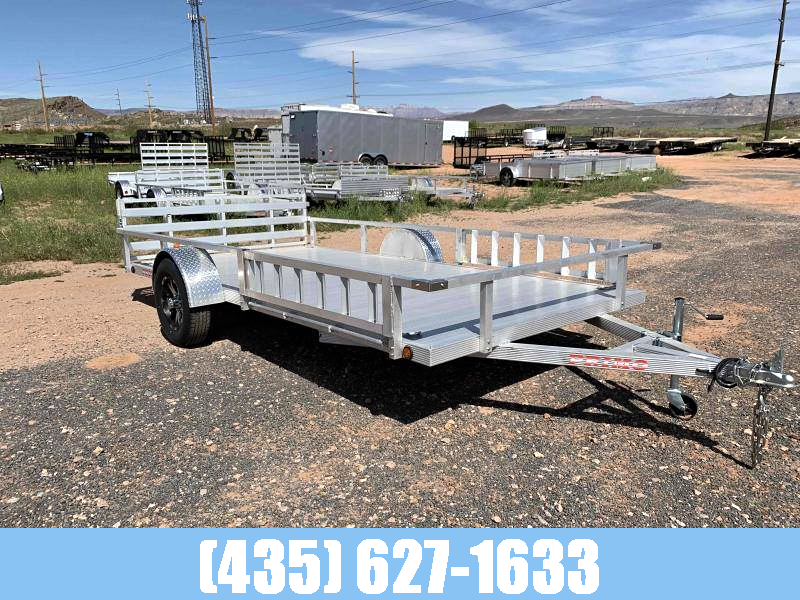 Primo 7X14 Aluminum Utility w/ Bi-Fold Gate and Side Loading Ramps