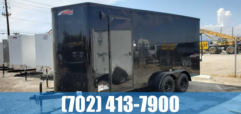 2021 Mirage Trailers 7x16 Side by Side BLACKOUT Pkg Enclosed Cargo Trailer