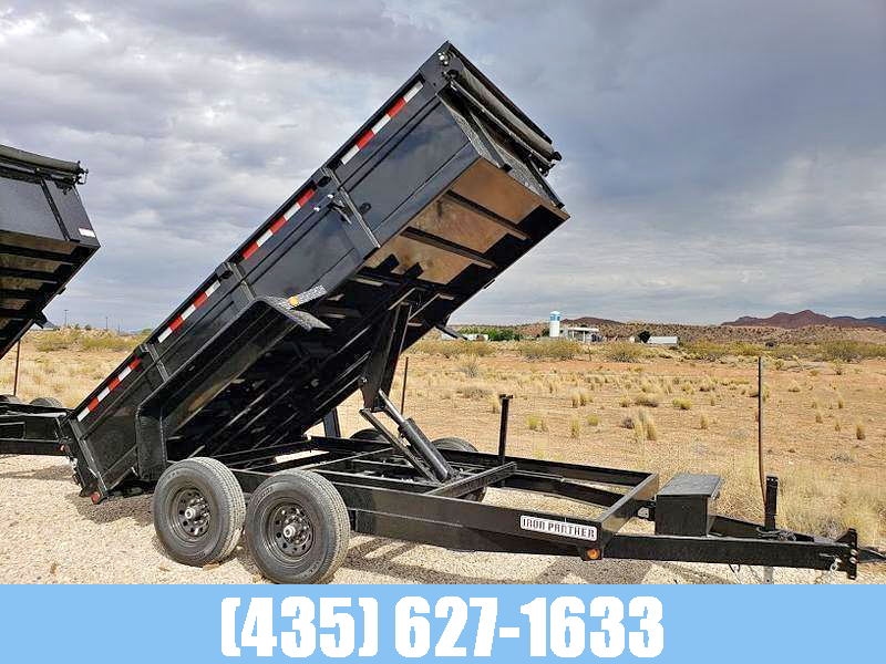 Iron Panther 7x14 14k GVW Dump Trailer with Tarp Kit