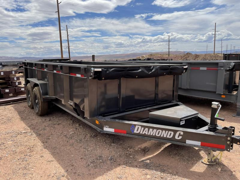 2021 Diamond C Trailers 7 x 16 207 LPD 615 Dump Trailer