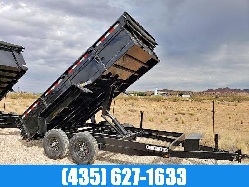 Iron Panther 7x14 14k GVW Dump Trailer with Tarp Kit