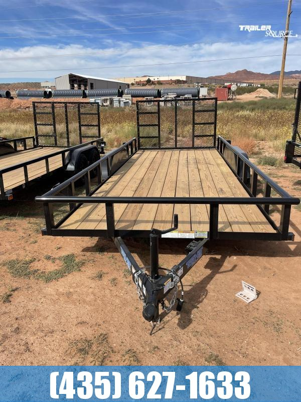 2022 Top Hat Trailers 7x18 Tandem Pipe-Top Utility Trailer