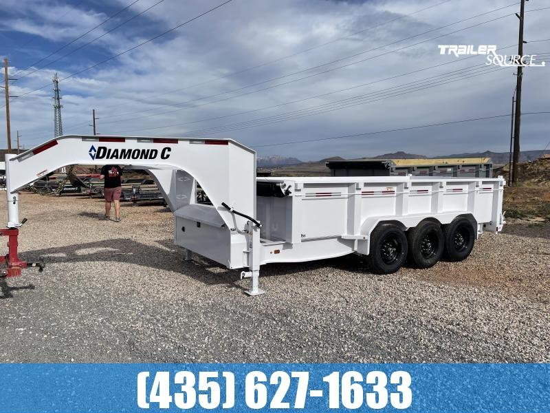 2021 Diamond C 7x16 LPT 307 (24K) Gooseneck Dump Trailer