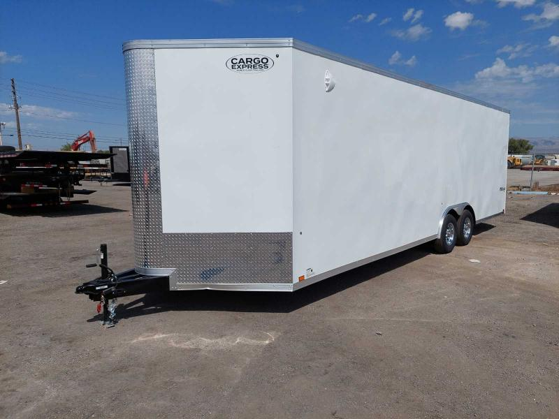LOADED 8.5X26 PRO SERIES CARGO TRAILER FINISHED INTERIOR EXTRA HEIGHT W/ CAR CARRIER PACKAGE