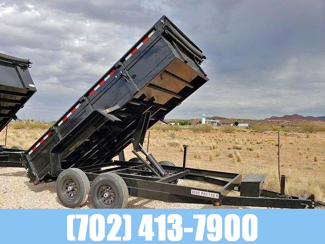 7X12 10K DUMP TRAILER W/ 2 FOOT SIDES